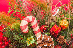 Christmas decoration display candy cane Royalty Free Stock Photography