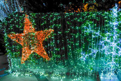 Christmas decoration. Displayed on bokeh lights background. Stock Images