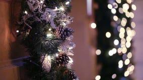 Christmas decoration on door stock video footage