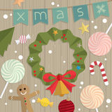 Christmas decoration door. Illustration Royalty Free Stock Images