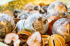 Christmas Decoration with dryed fruits Royalty Free Stock Photos