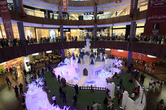 Christmas Decoration in Dubai Mall Stock Images