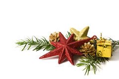 Christmas decoration element on white background Stock Images