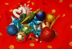 Christmas decoration elements. A close-up of a Christmas decoration elements Stock Photography