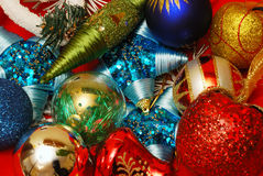 Christmas decoration elements. A close-up of a Christmas decoration elements Royalty Free Stock Photos