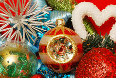 Christmas decoration elements. A close-up of a Christmas decoration elements Royalty Free Stock Images