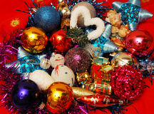 Christmas decoration elements. A close-up of a Christmas decoration elements Royalty Free Stock Photo
