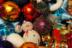 Christmas decoration elements. A close-up of a Christmas decoration elements Stock Photos