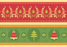 Christmas decoration elements for design. New year image royalty free illustration