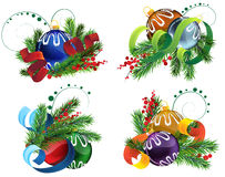 Christmas decoration elements Royalty Free Stock Photography