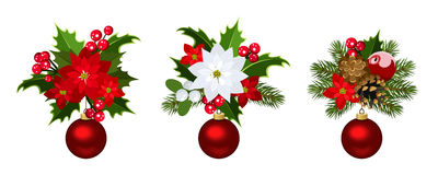 Christmas decoration elements. Stock Photo