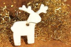 Christmas decoration elk Royalty Free Stock Images