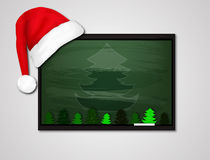Christmas decoration empty school board. Christmas decoration school board, vector artistic mllyustratsiya Stock Image