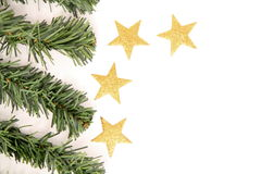 Christmas decoration end star Stock Photos