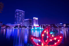 Christmas decoration at Eola Park in Orlando, Florida Stock Images