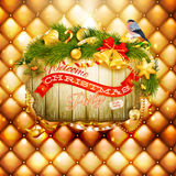 Christmas decoration. EPS 10. Christmas decoration on gold background. EPS 10 vector file included Stock Image