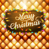 Christmas decoration. EPS 10. Christmas decoration on gold background. EPS 10 vector file included Royalty Free Stock Images