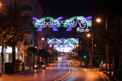 Christmas decoration in Estepona, Spain Royalty Free Stock Photos