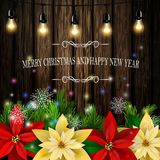 Christmas decoration evergreen trees Royalty Free Stock Photos