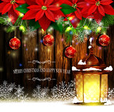 Christmas decoration evergreen trees Stock Photos