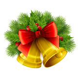 Christmas decoration  with evergreen trees, holly Royalty Free Stock Photo