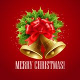 Christmas decoration  with evergreen trees, holly Stock Photo