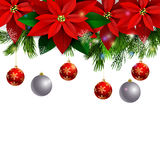 Christmas decoration evergreen trees Stock Images