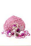 Christmas decoration with feminine colours Royalty Free Stock Photography