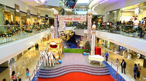 Christmas decoration at festival walk shopping mal Stock Image