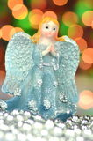 Christmas decoration, figure of blue angel Royalty Free Stock Photography
