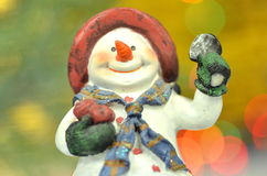 Christmas decoration, figure of snowman Royalty Free Stock Image