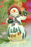 Christmas decoration, figure of snowman Royalty Free Stock Photo