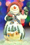 Christmas decoration, figure of snowman Royalty Free Stock Photography