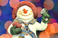 Christmas decoration, figure of snowman Stock Image
