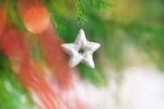 Christmas decoration on the fir branch Stock Photography