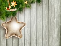 Christmas decoration with fir branches. EPS 10 Royalty Free Stock Photography