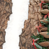 Christmas decoration with fir-cone Stock Photos