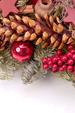 Christmas decoration with fir cone Royalty Free Stock Images