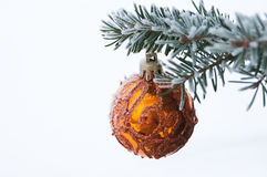 Christmas decoration on the fir tree Stock Photography