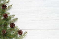 Christmas decoration. With fir tree Royalty Free Stock Photos
