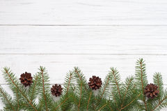 Christmas decoration. With fir tree Royalty Free Stock Images