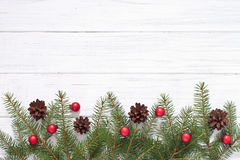 Christmas decoration. With fir tree Royalty Free Stock Photo