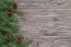 Christmas decoration. With fir tree Royalty Free Stock Image