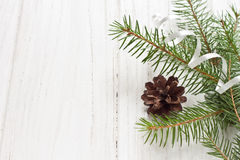 Christmas decoration. With fir tree Stock Photography