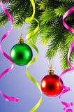 Christmas decoration on the fir tree Stock Images