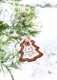 Christmas Decoration in the Fir Tree Stock Photo