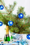 Christmas decoration on a fir-tree branches Royalty Free Stock Images