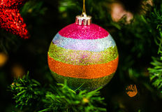 Christmas decoration on the fir tree Royalty Free Stock Photography