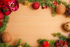 Christmas decoration with fir tree and glamor mask Royalty Free Stock Photo
