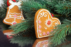 Christmas decoration with fir-tree Stock Photography